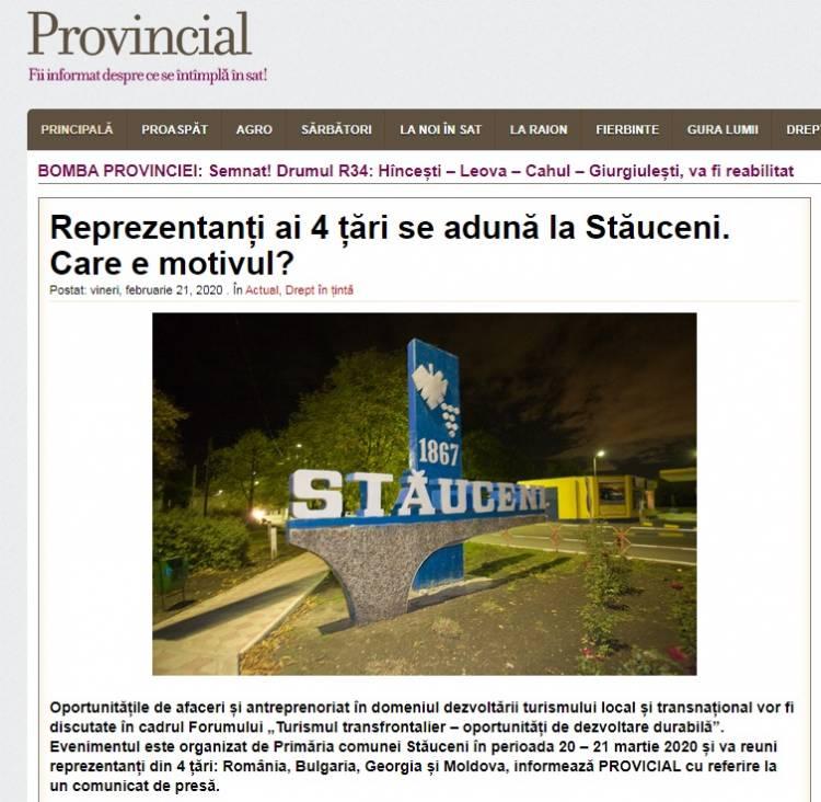 Provincial.md: Reprezentanți ai 4 țări se adună la Stăuceni. Care e motivul?