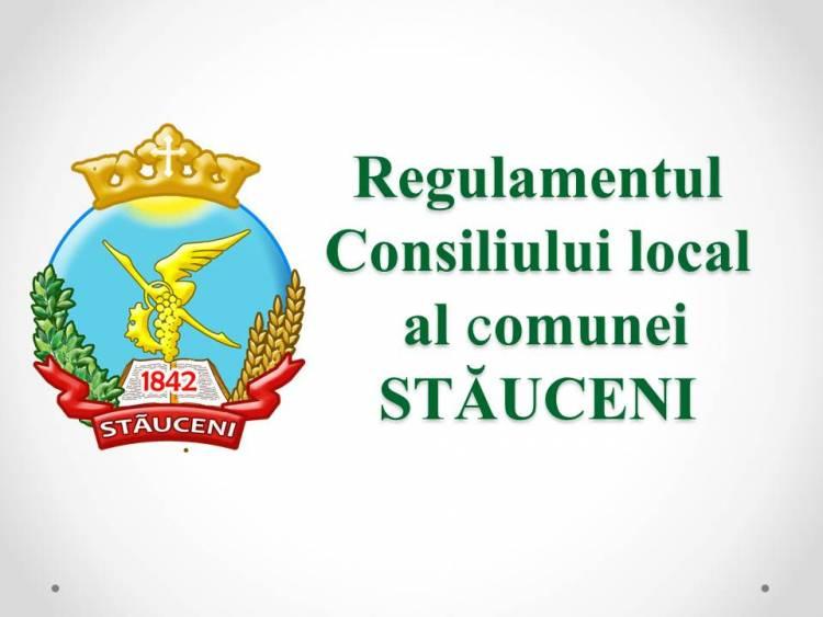 Regulamentul privind constituirea și funcționarea Consiliului comunei Stăuceni