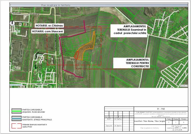 Consultări publice a proiectului de Decizie cu privire la aprobarea Planului Urbanistic de Detaliu privind amenajarea terenului cu numărul cadastral 31532110.99