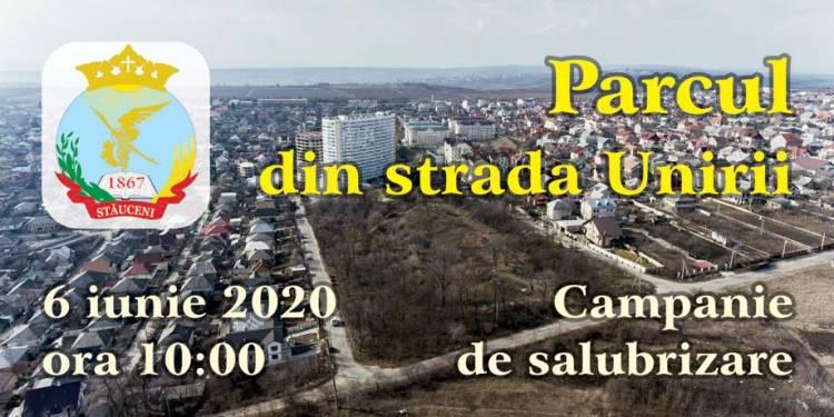 AMÂNAREA Campaniei de salubrizare a parcului din strada Unirii!