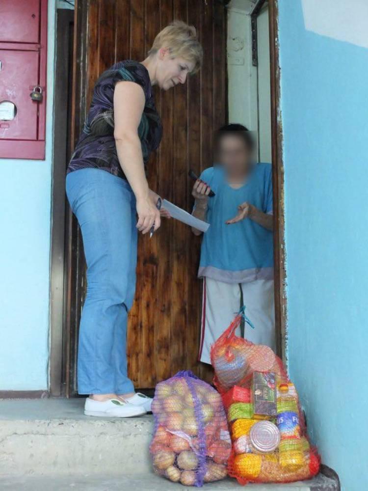 31 de familii au beneficiat de pachete cu produse alimentare și de primă necesitate