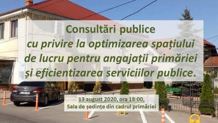 Invitație la consultări publice!