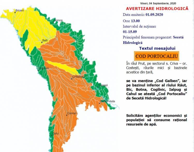AVERTIZARE METEOROLOGICĂ/HIDROLOGICĂ
