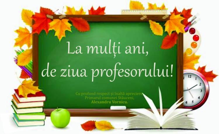 Mesaj de felicitare cu ocazia Zilei Profesorului