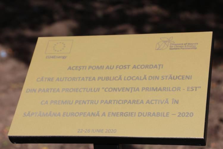 La Stăuceni a fost plantată Aleea Convenției Primarilor pentru Climă și Energie