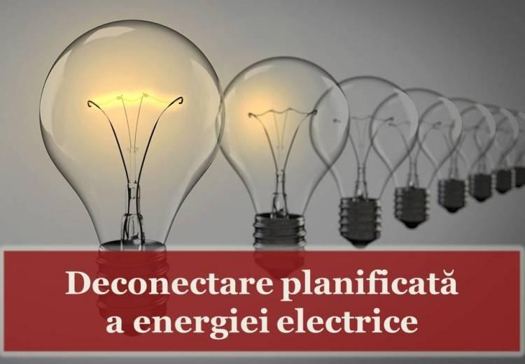 Deconectarea energiei electrice pe 6 noiembrie!