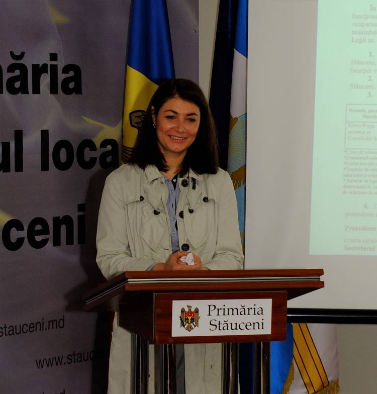 Elena Buga - Secretar al Consiliului comunal Stăuceni