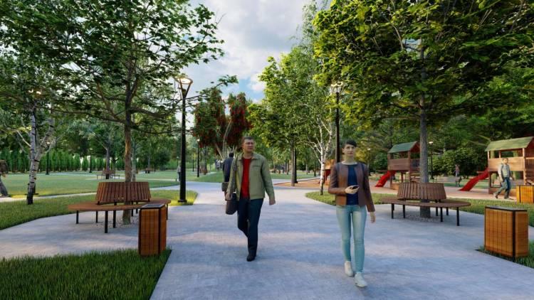 Conceptul proiectului de amenajare a parcului din str. Mateevici