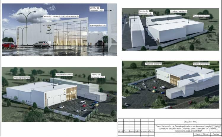 Consultarea publică a PUD-ului privind construirea unei anexe la centrul comercial situat în com. Stăuceni, str. Chișinău