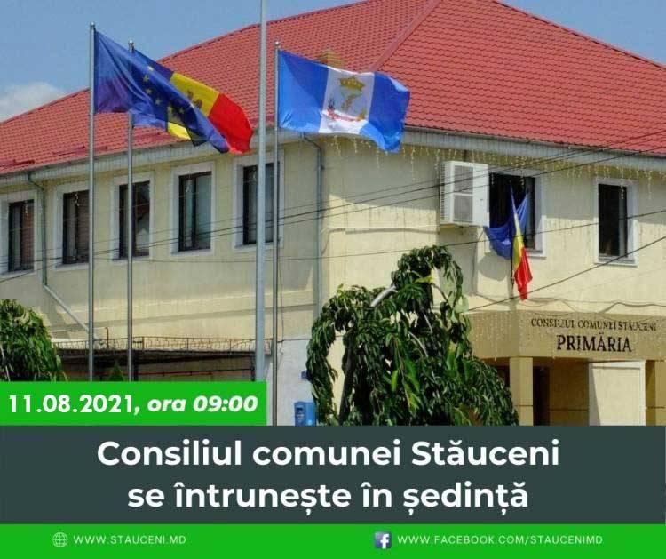 Consiliul comunei Stăuceni se întrunește în ședință